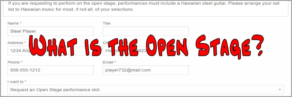 What is the Open Stage?