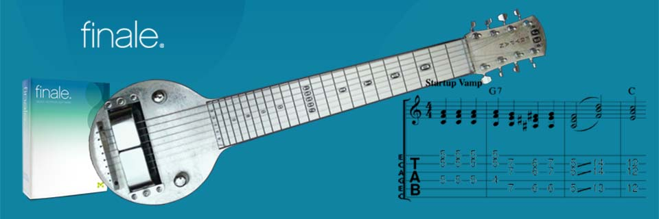 Software for Creating Steel Guitar Arrangements